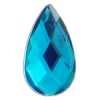 Acrylic 17x9mm Pear Shape Facet Turquoise